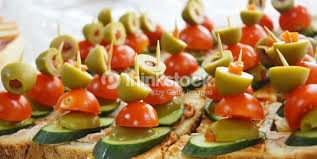 food canapes well decorated food canapes coldcuts buffet stock photo thinkstock