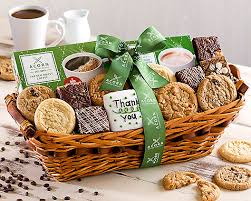 thank you baskets coffee baked thank you gift basket at gift baskets etc