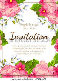 invitation greeting flower wedding invitation card save date stock vector 260627537