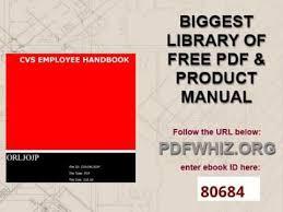 cvs employee handbook youtube