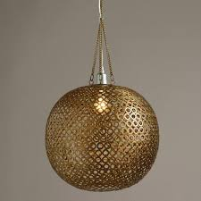 world market pendant light brass disc hanging pendant l world market