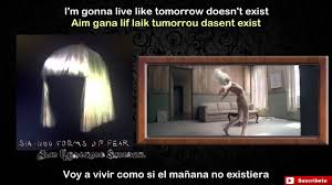 Sia Chandelier Lyric Sia Chandelier Lyrics Letra En Español Pronunciación Youtube