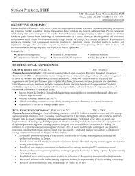 resume summary exles human resources resume exle sle