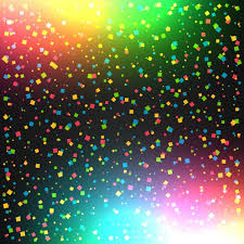 colorful celebration background with confetti vector free