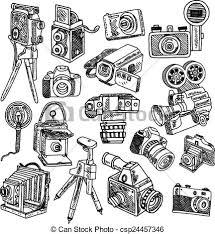 clip art vector of camera tripod sketch camera on tripod photo
