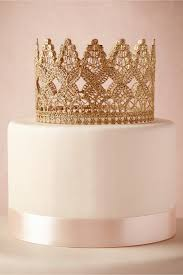 gold cake topper crowned cake topper in décor gifts bhldn