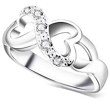 symbol of ring in wedding bohg jewelry womens fashion silver plate cubic