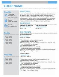 professional business resume template example resume for
