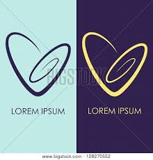 two color combinations set 2 spiral heart logo simple vector photo bigstock