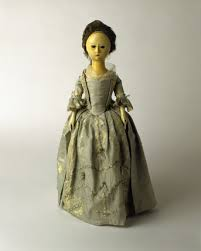 wooden doll 18th century at museum of