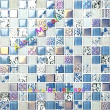 aliexpress com buy iridescent tiles blue glass mosaic tiles