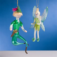 de carlini pan and tinkerbell ornaments the