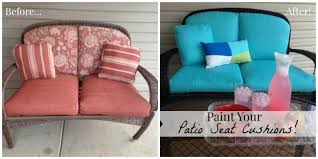 Fabric For Patio Chairs Paint Your Patio Seat Cushions And Transform Your Patio For Less