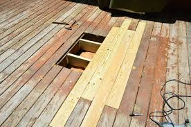 how to patch or repair a hole in your deck young house love