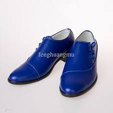 black dress sandals for wedding fashion men royal blue leather