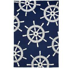 ship wheel nautical indoor outdoor rugs by liora manne