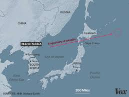 Sea Of Japan Map North Korea Just Launched A Missile Over Japan Vox