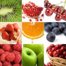 colorful fruit collage of nine photos u2014 stock photo duskbabe