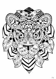 zentangle lion animals coloring pages for adults justcolor