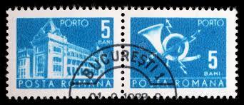 bureau de poste montr l le timbre imprimé en roumanie montre le bâtiment central de bureau
