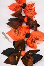 hair bow large halloween spider u0026 web alligator clip grosgrain bow