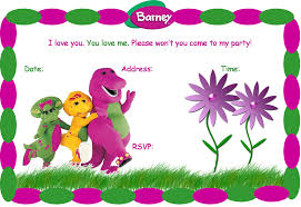 barney party invitations personalized holiday greeting cards
