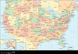 us states detailed map map of united states