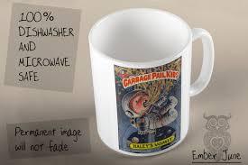 garbage pail kids haley u0027s vomit coffee mug