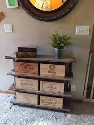 Vail Round Table Erik Organic Sideboard Storage Unit Made With Wine Boxes With Two Cupboards And