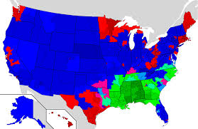 1980 Presidential Election Map by Election Results By Congressional Districts Official Thread