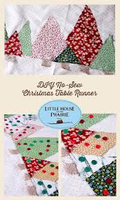 no sew christmas tree tablerunner diy inspired by little house on