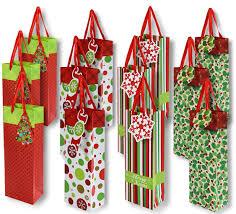 christmas wine gift single bottle wine bag glitter paper