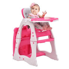Toddler Feeding Table by Costway 3 In 1 Baby High Chair Convertible Play Table Seat Booster