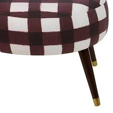 oval shaped ottoman with buffalo square black design 8385109 hsn