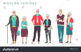set modern senior business people different stock vector 599069945