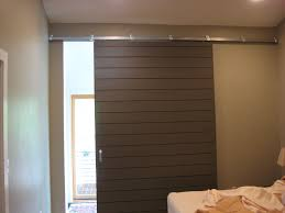 barn door interior modern view in gallery allwhite minimal