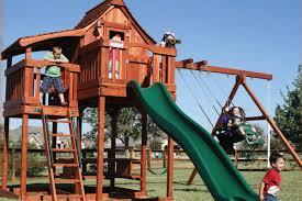 swing sets backyard adventures redwood u0026 wooden swing sets la