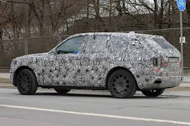 rolls royce suv rolls royce cullinan suv spy shots with production front gtspirit