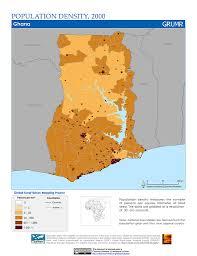 Map Of Ghana Maps Population Density Grid V1 Sedac