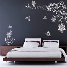 butterfly vine flower wall decals vinyl stickers living room