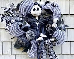 nightmare before christmas ribbon nightmare before christmas wreath skellington wreath