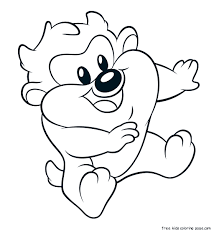 coloring pages com free free printable baby looney tunes taz coloring pages for kids