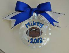 personalized 3d football ornamentsports by kendraskuties on etsy