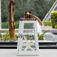 beautiful wooden and stainless steel lanterns buy home decor arwen white and rose gold wooden lantern small
