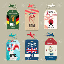 travel tags images Vintage luggage tags label travel vacation and tourism vector jpg