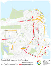 San Francisco Transit Map by A Little Help From Our Friends You Sfmta