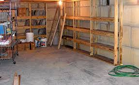 toin wood shelf plans basement