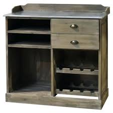 meuble billot cuisine meuble bahut bar billot avec tiroirs en bois zinc 101 cm chemin