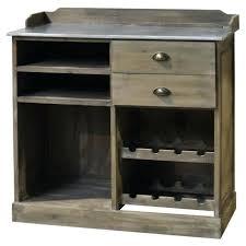 meuble bahut bar billot avec tiroirs en bois zinc 101 cm chemin