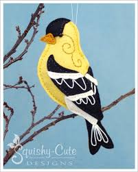 backyard birds gordon the goldfinch stuffed animal sewing